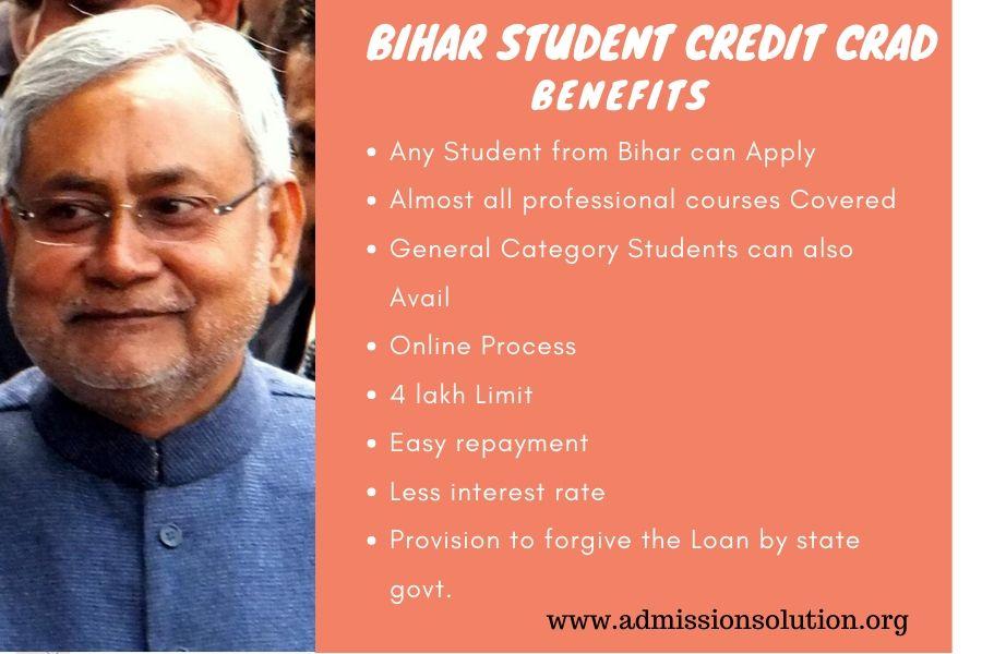 benefits Bihar student credit card