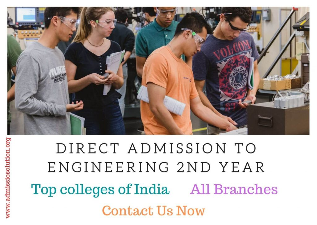 Direct admission to Engineering 2nd year Lateral Entry
